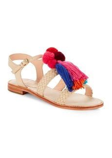 Kate Spade New York Sunset Tassel-Accented Faux Leather Sandals