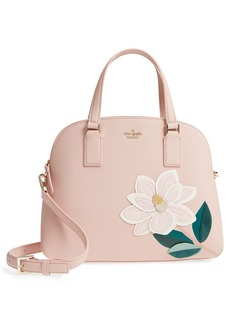 kate spade new york swamped magnolia - lottie leather satchel