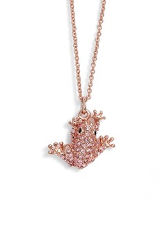 kate spade new york swamped pavé frog pendant necklace