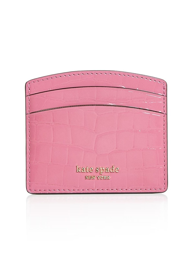 kate spade new york Sylvia Croc-Embossed Card Case