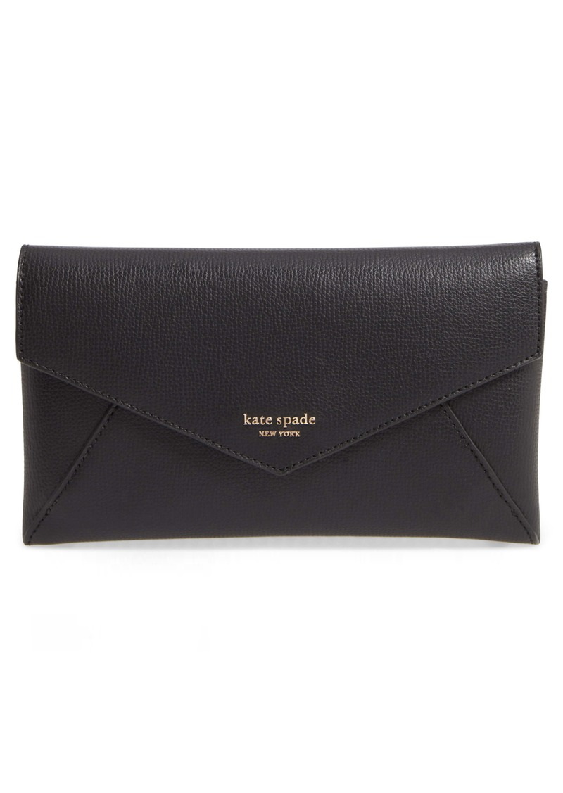 kate spade new york sylvia leather wallet on a chain