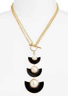 kate spade new york taking shapes toggle necklace