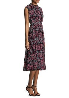 Kate Spade New York Tapestry Chiffon Midi Dress