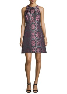 Kate Spade tapestry fit-and-flare jacquard dress