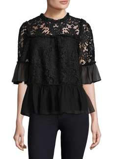 Kate Spade Tapestry Lace Top