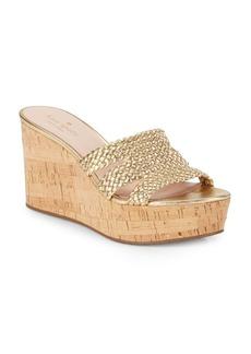 Kate Spade New York Taravela Leather Platform Wedge Sandals