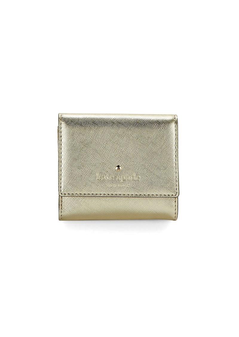 KATE SPADE NEW YORK Tavy Embossed Leather Wallet