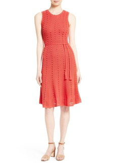 kate spade new york textured knit midi dress