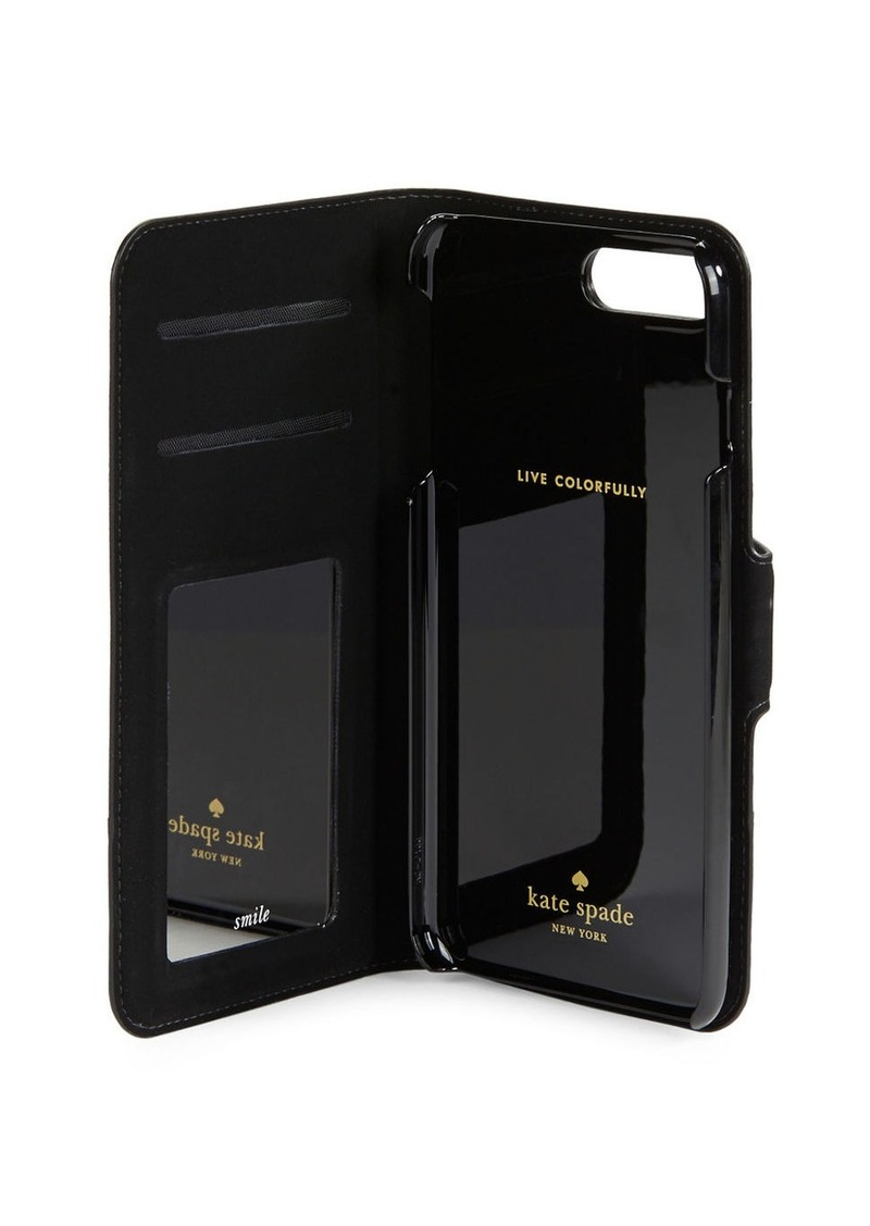 KATE SPADE NEW YORK Textured Leather iPhone Case