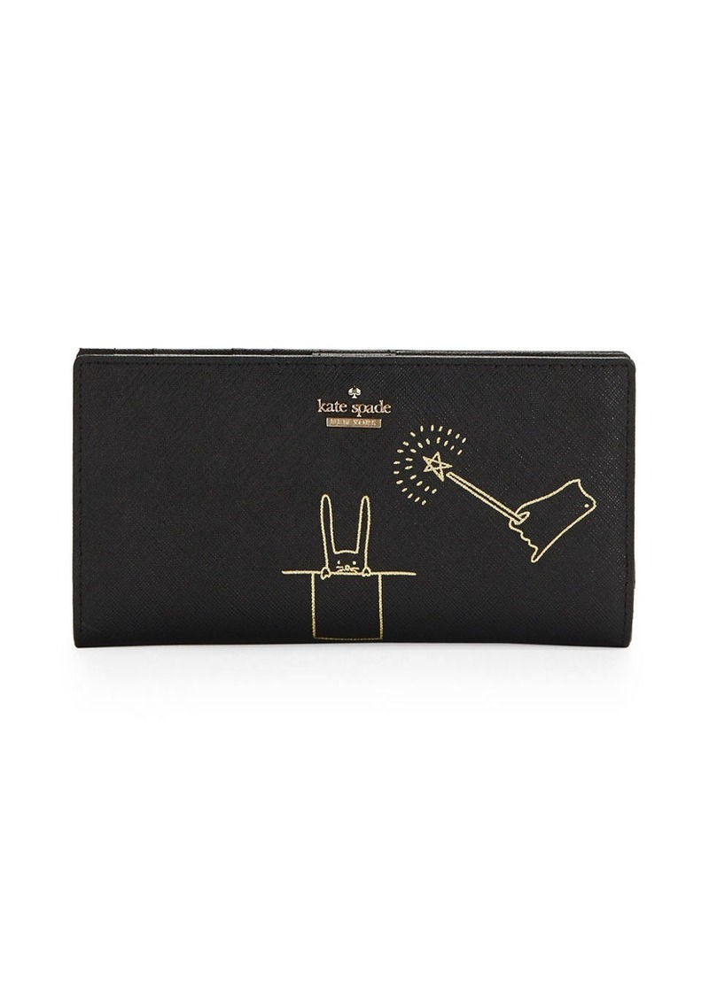 KATE SPADE NEW YORK Textured Leather Wallet