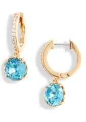 kate spade new york that sparkle pavé huggie hoop earrings