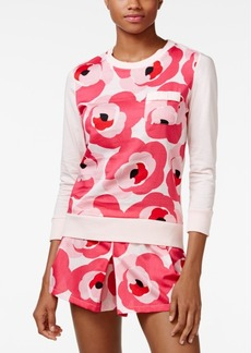 kate spade new york Three-Quarter-Sleeve Top and Shorts Pajama Set