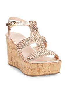 Kate Spade New York Tianna Leather Platform Wedge Sandals