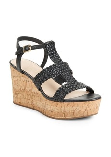 Kate Spade New York Tianna Woven Leather Cork Platform Wedge Sandals