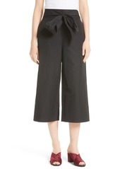 kate spade new york tie front culottes