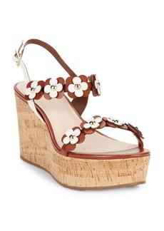 Kate Spade New York Tisdale Leather Platform Wedge Sandals