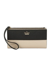 Kate Spade New York Tusk Eliza Leather Wristlet