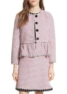 kate spade new york tweed peplum jacket