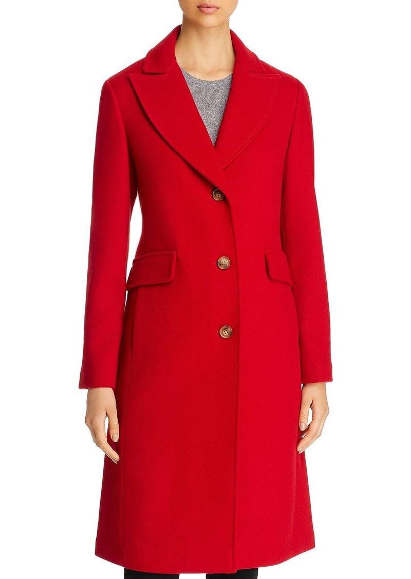 kate spade new york Twill Peaked Lapel Long Coat