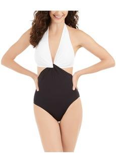 kate spade new york Twist Front One-Piece Swimsuit Women's Swimsuit