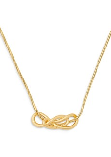 """kate spade new york Twist Knot Collar Necklace in Gold Tone, 16""""-19"""""""
