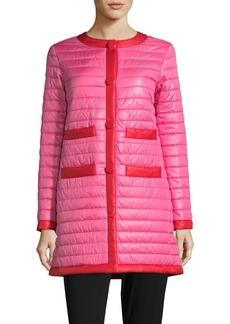 Kate Spade New York Two-Tone Puffer Coat