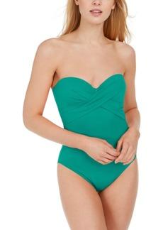 kate spade new york Underwire Bandeau One-Piece Swimsuit Women's Swimsuit