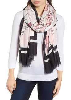kate spade new york usa map scarf