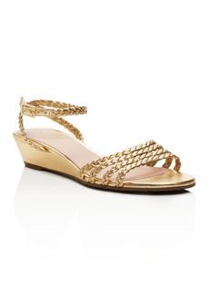 kate spade new york Valencia Metallic Braided Wedge Sandals - 100% Exclusive