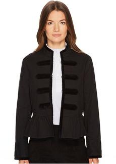 Kate Spade New York Velvet Trim Military Jacket