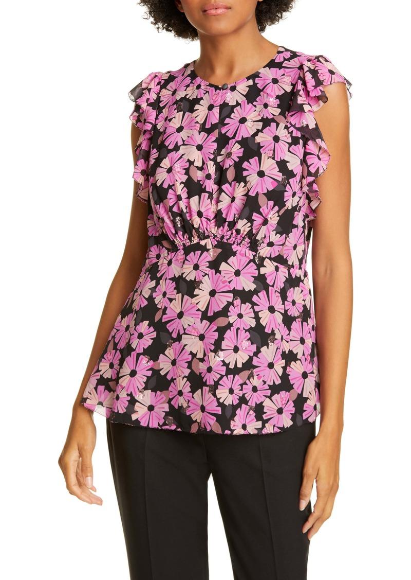 kate spade new york wallflower metallic detail blouse
