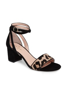 kate spade new york watson genuine calf hair block heel sandal (Women)