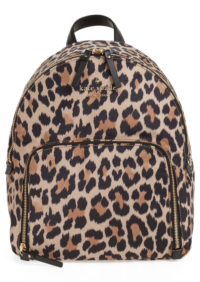 Kate Spade New York Watson Lane Hartley Leopard Print Backpack
