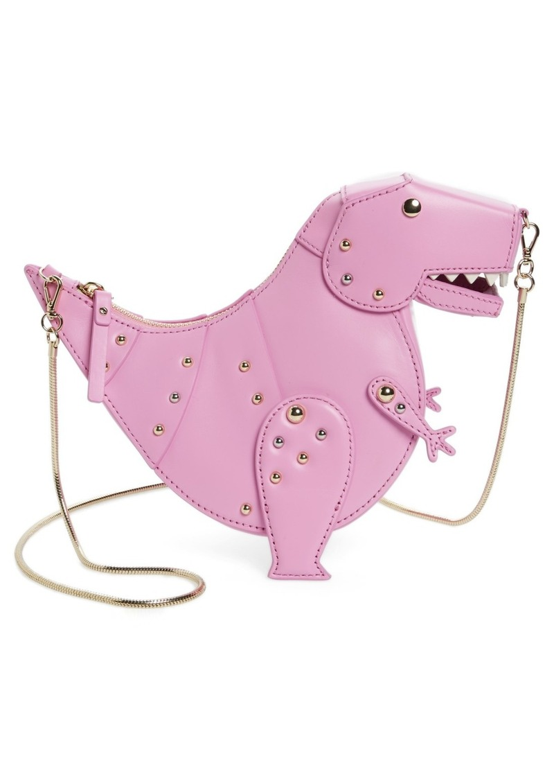kate spade new york whimsies t-rex leather crossbody bag