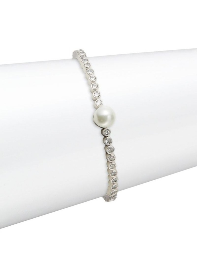 Kate Spade New York White Pearl Tennis Bracelet