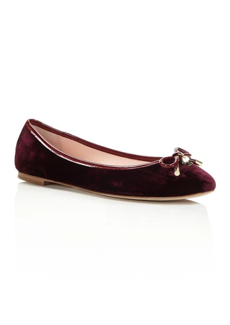 1d7214bcdb Kate Spade kate spade new york Willa Velvet Ballet Flats | Shoes