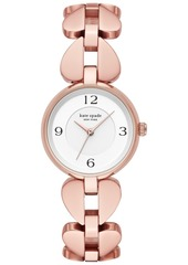 kate spade new york Women's Annadale Rose Gold-Tone Stainless Steel Bracelet Watch 30mm