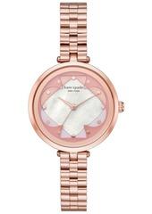 kate spade new york Women's Annadale Rose Gold-Tone Stainless Steel Bracelet Watch 34mm