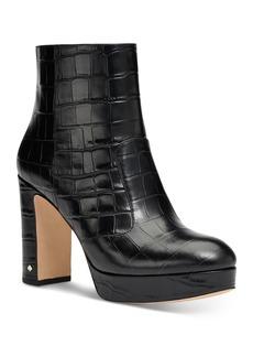 kate spade new york Women's Barrett Embossed Leather High Heel Booties