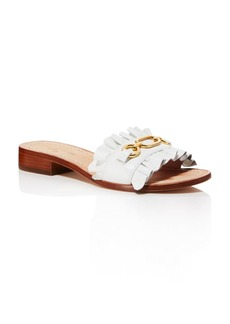 kate spade new york Women's Beau Leather Slide Sandals