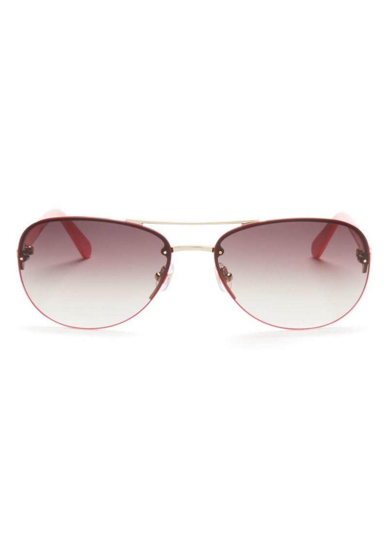 3177fd125 kate spade new york Women's Beryl Brow Bar Rimless Round Sunglasses, ...