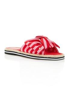 kate spade new york Women's Caliana Striped Bow Flat Sandals