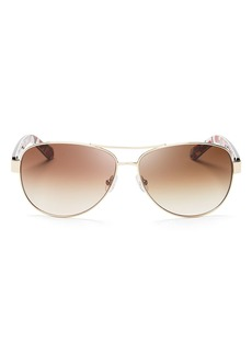 kate spade new york Women's Dalia Aviator Sunglasses, 58mm