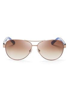 kate spade new york Women's Dalia Aviator Sunglasses, 58mm