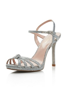 kate spade new york Women's Florence Glittered Leather High-Heel Sandals
