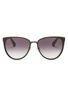 kate spade new york Women's Jabrea Cat Eye Sunglasses, 57mm