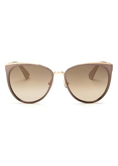 kate spade new york Women's Jabrea Mirrored Round Sunglasses, 57mm