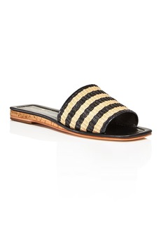 kate spade new york Women's Juiliane Striped Raffia Slide Sandals