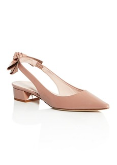 kate spade new york Women's Lucia Patent Leather Slingback Block Heel Pumps