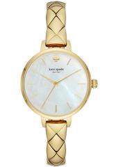 kate spade new york Women's Metro Gold-Tone Stainless Steel Bracelet Watch 34mm